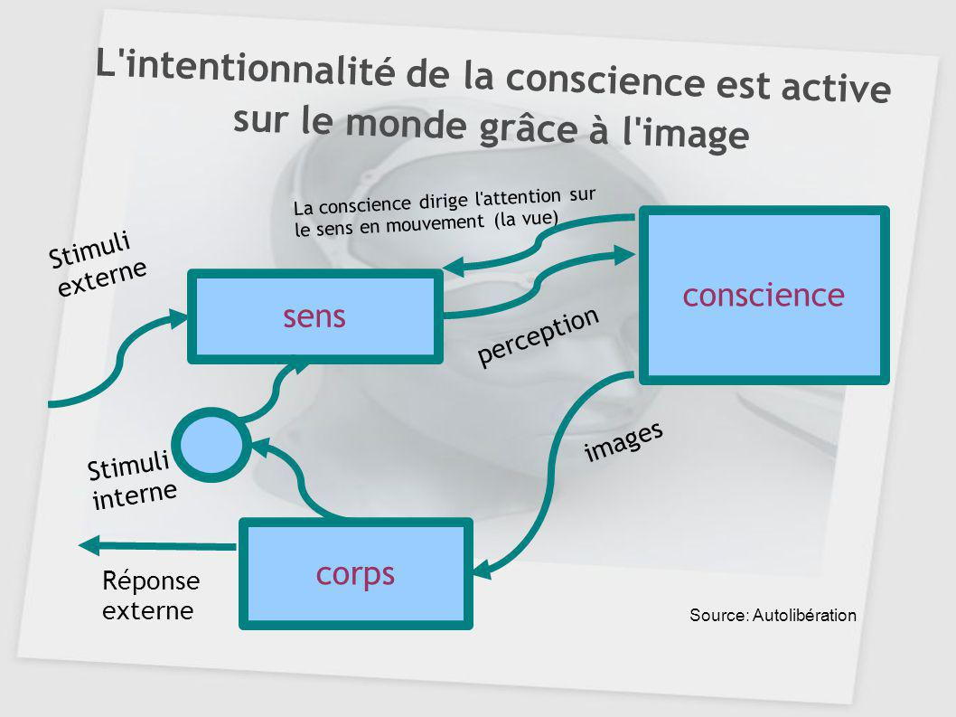 L intentionnalité de la conscience est active sur le monde grâce à l image