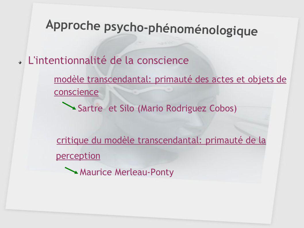 Approche psycho-phénoménologique
