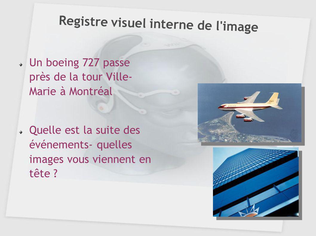 Registre visuel interne de l image