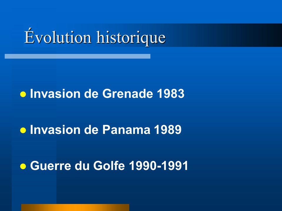 Évolution historique Invasion de Grenade 1983 Invasion de Panama 1989