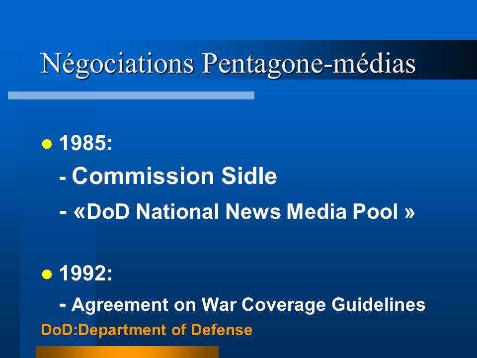 Négociations Pentagone-médias