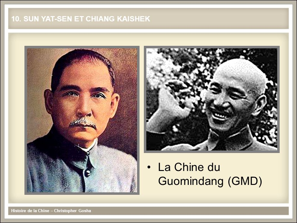 La Chine du Guomindang (GMD)