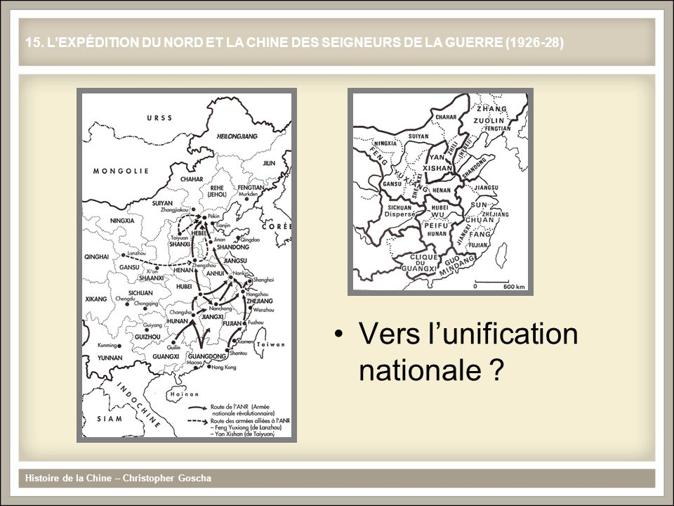 Vers l'unification nationale