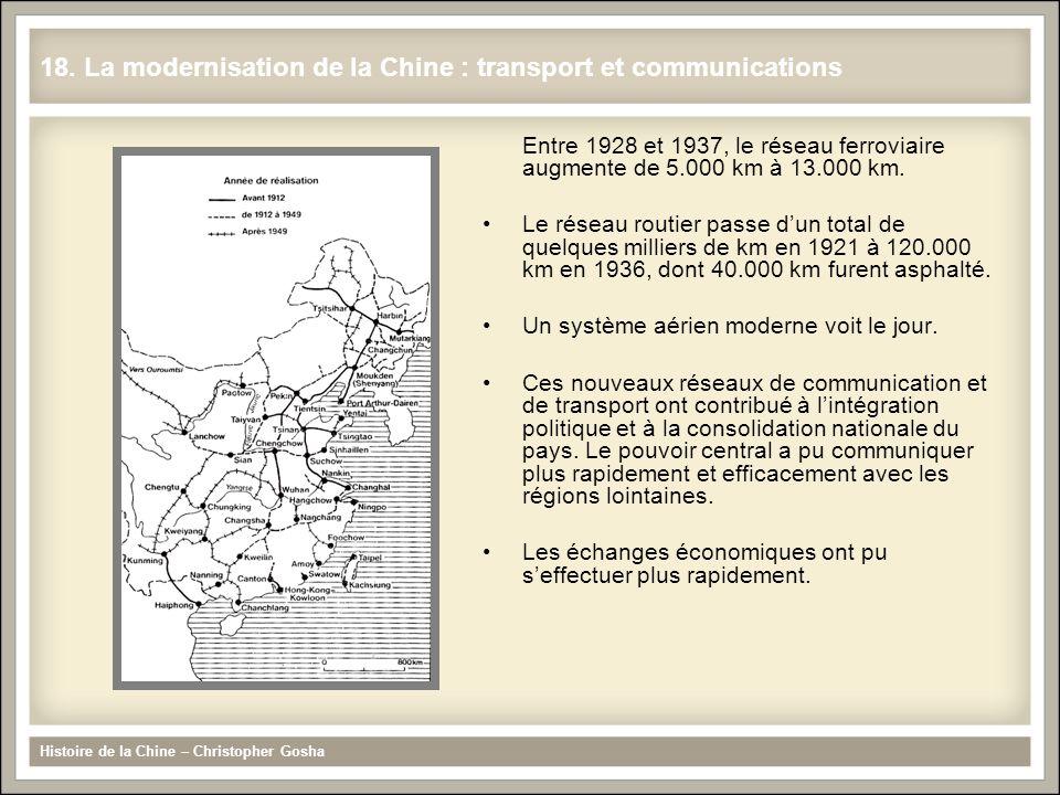 18. La modernisation de la Chine : transport et communications