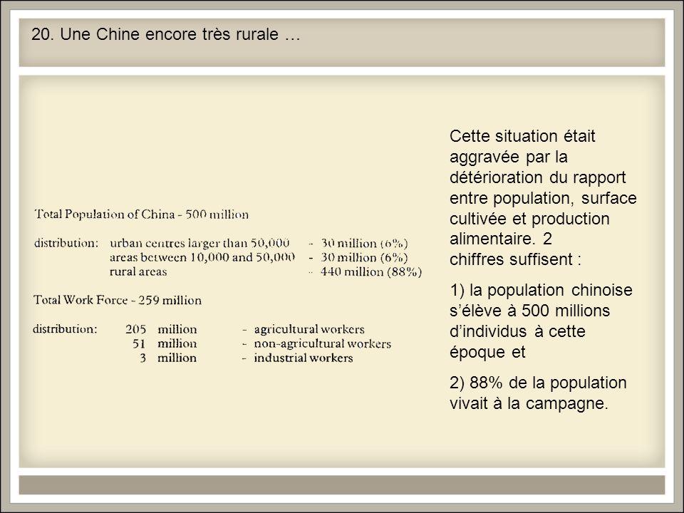 20. Une Chine encore très rurale …