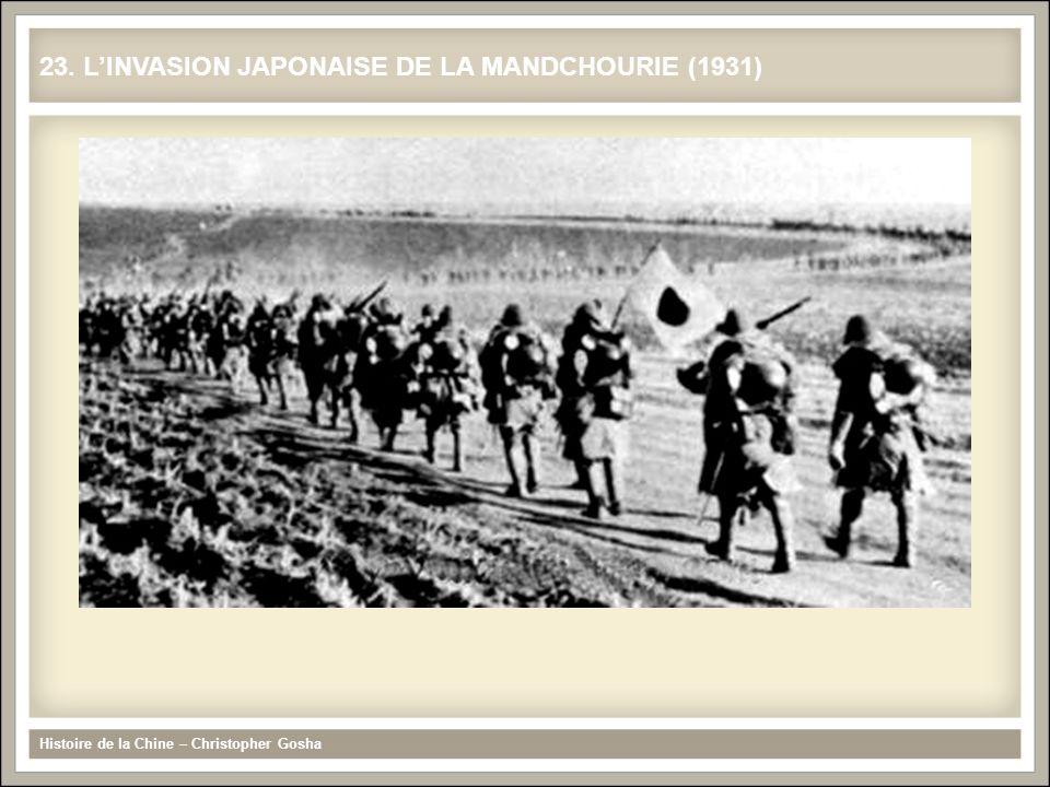 23. L'INVASION JAPONAISE DE LA MANDCHOURIE (1931)