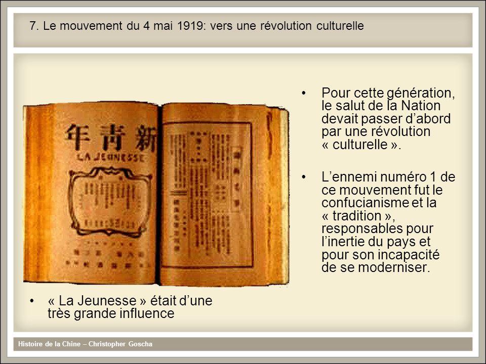 7. Le mouvement du 4 mai 1919: vers une révolution culturelle