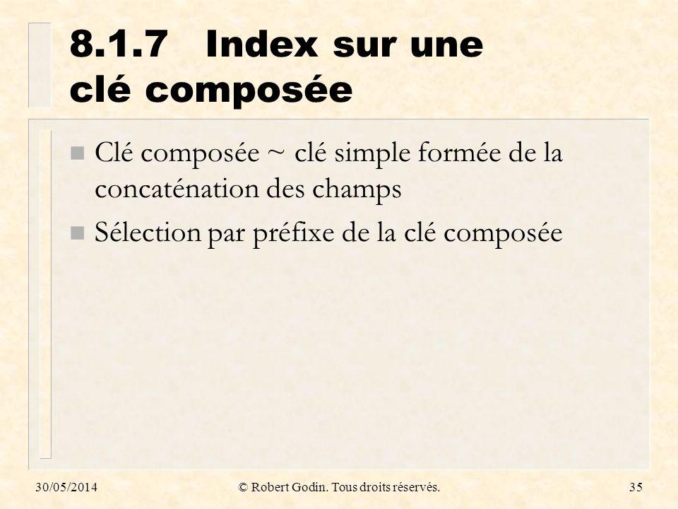 8.1.7 Index sur une clé composée