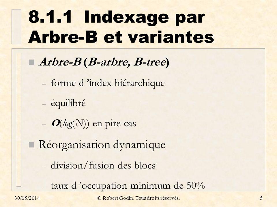 8.1.1 Indexage par Arbre-B et variantes