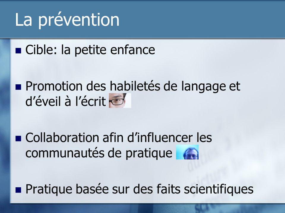 La prévention Cible: la petite enfance