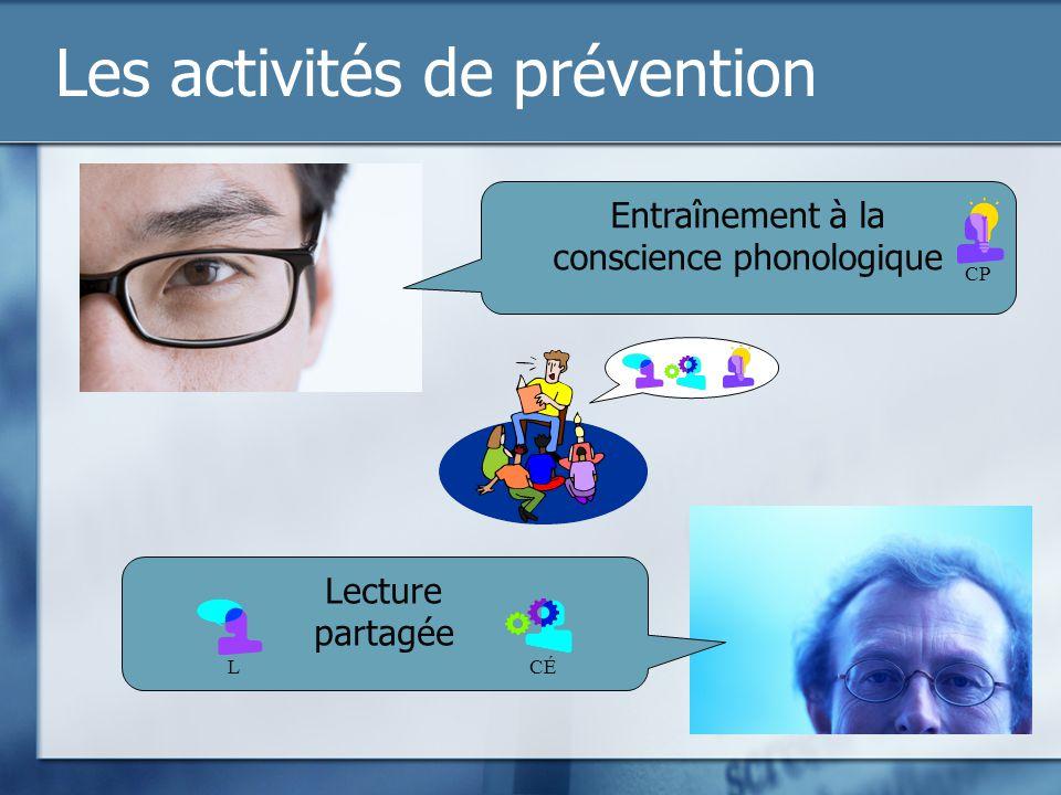 Les activités de prévention