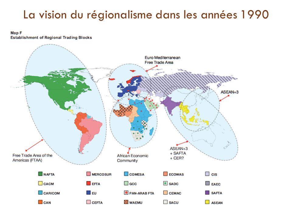 La vision du régionalisme dans les années 1990