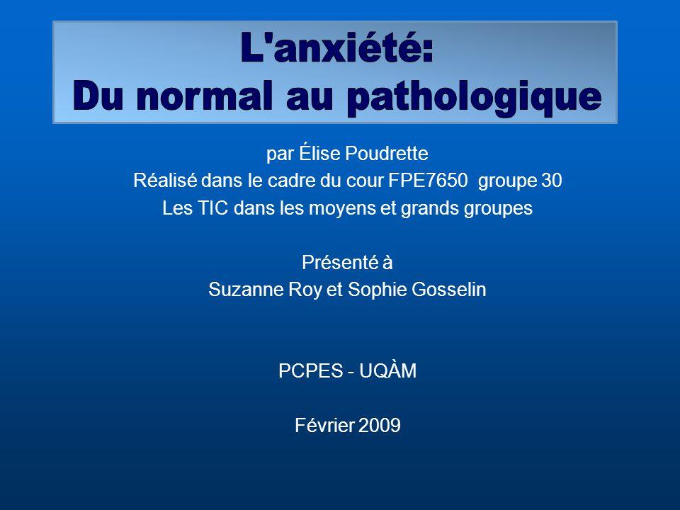 Du normal au pathologique