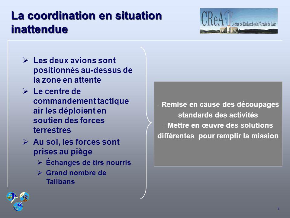 La coordination en situation inattendue