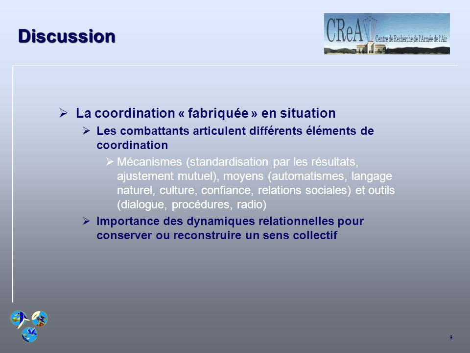 Discussion La coordination « fabriquée » en situation