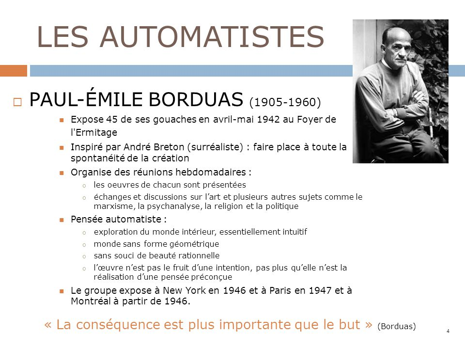 LES AUTOMATISTES PAUL-ÉMILE BORDUAS (1905-1960)