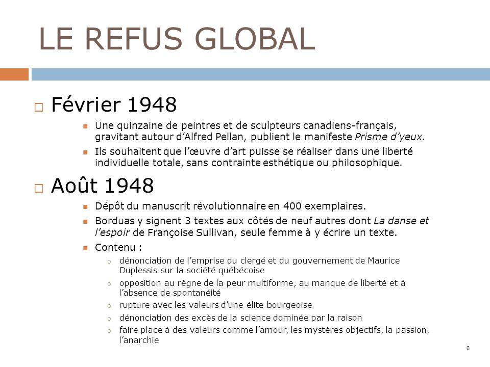 LE REFUS GLOBAL Février 1948 Août 1948