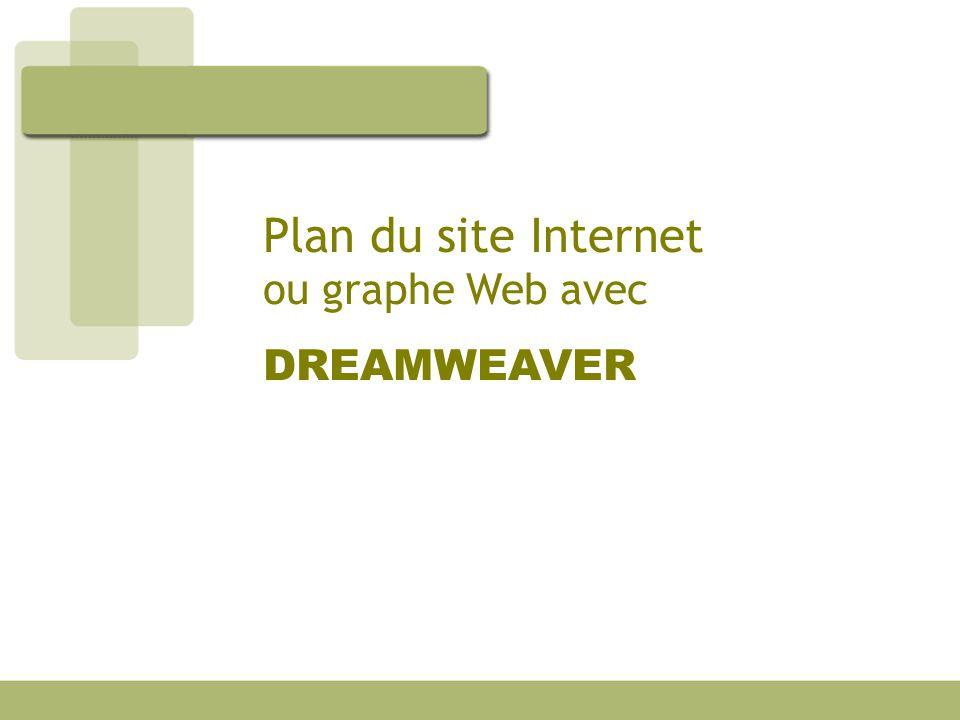 Plan du site Internet ou graphe Web avec