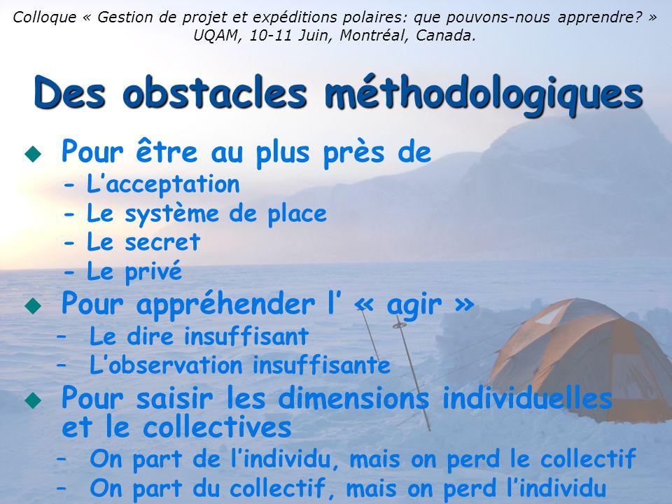 Des obstacles méthodologiques