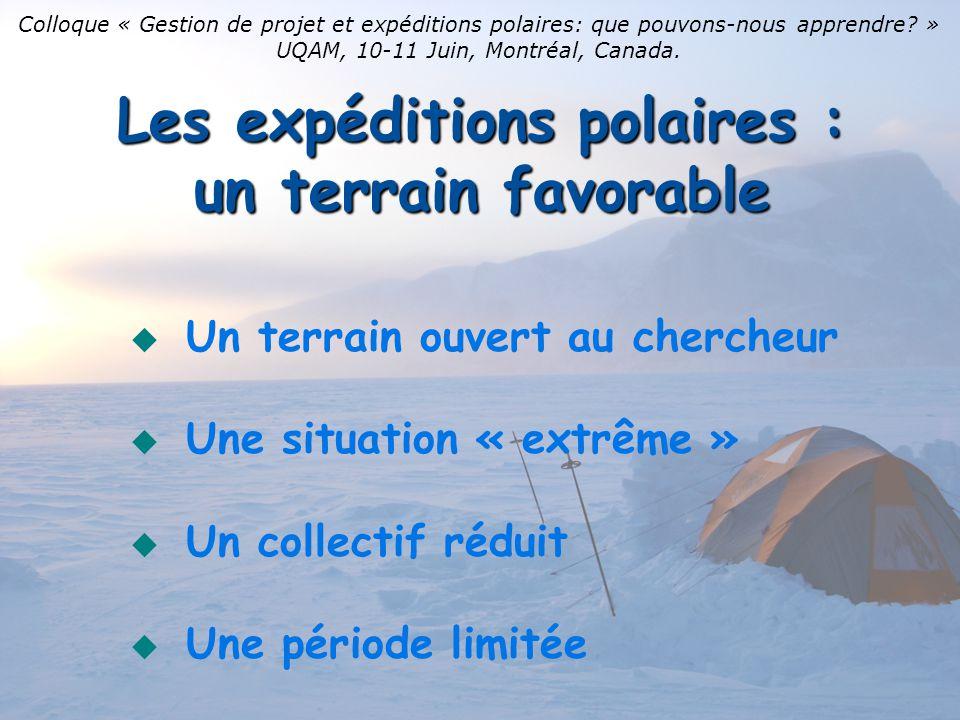Les expéditions polaires : un terrain favorable