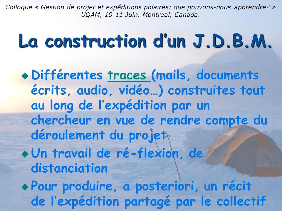 La construction d'un J.D.B.M.