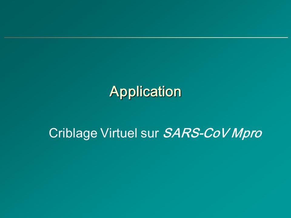 Criblage Virtuel sur SARS-CoV Mpro