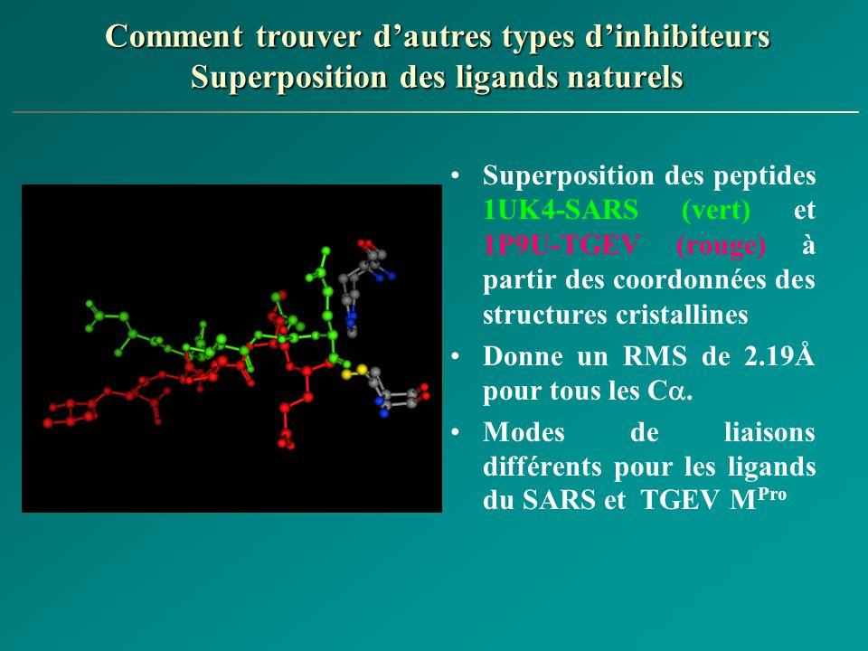 Comment trouver d'autres types d'inhibiteurs Superposition des ligands naturels