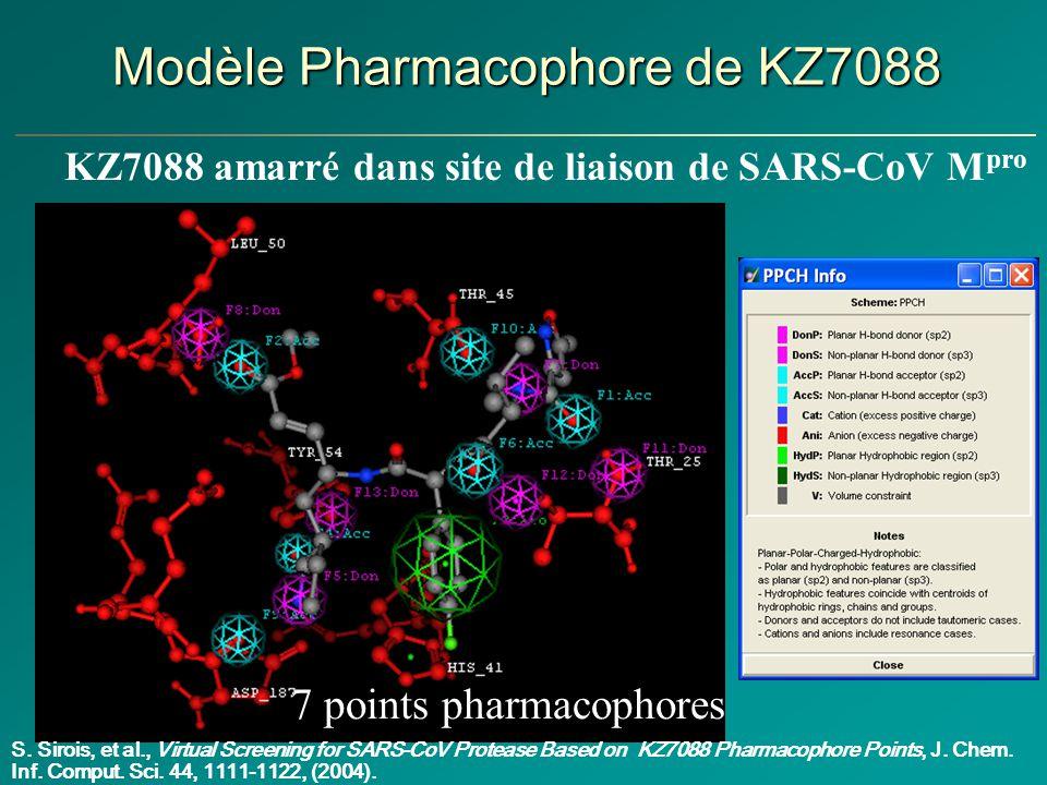 Modèle Pharmacophore de KZ7088