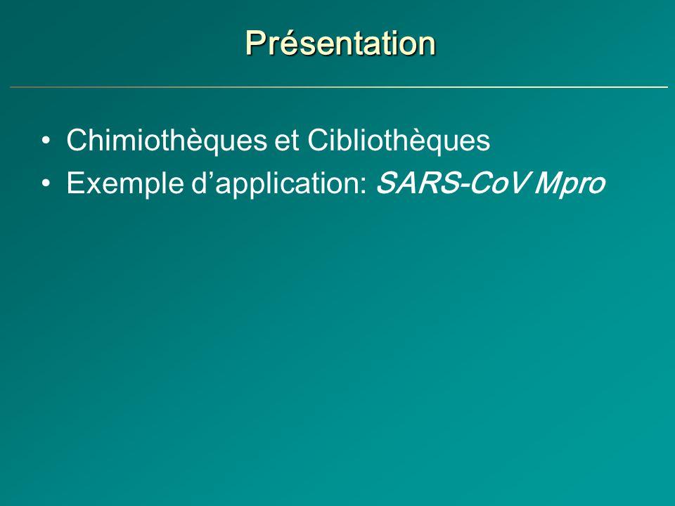 Présentation Chimiothèques et Cibliothèques