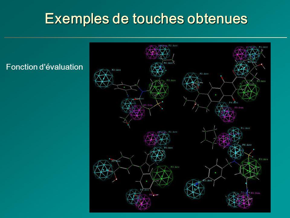 Exemples de touches obtenues