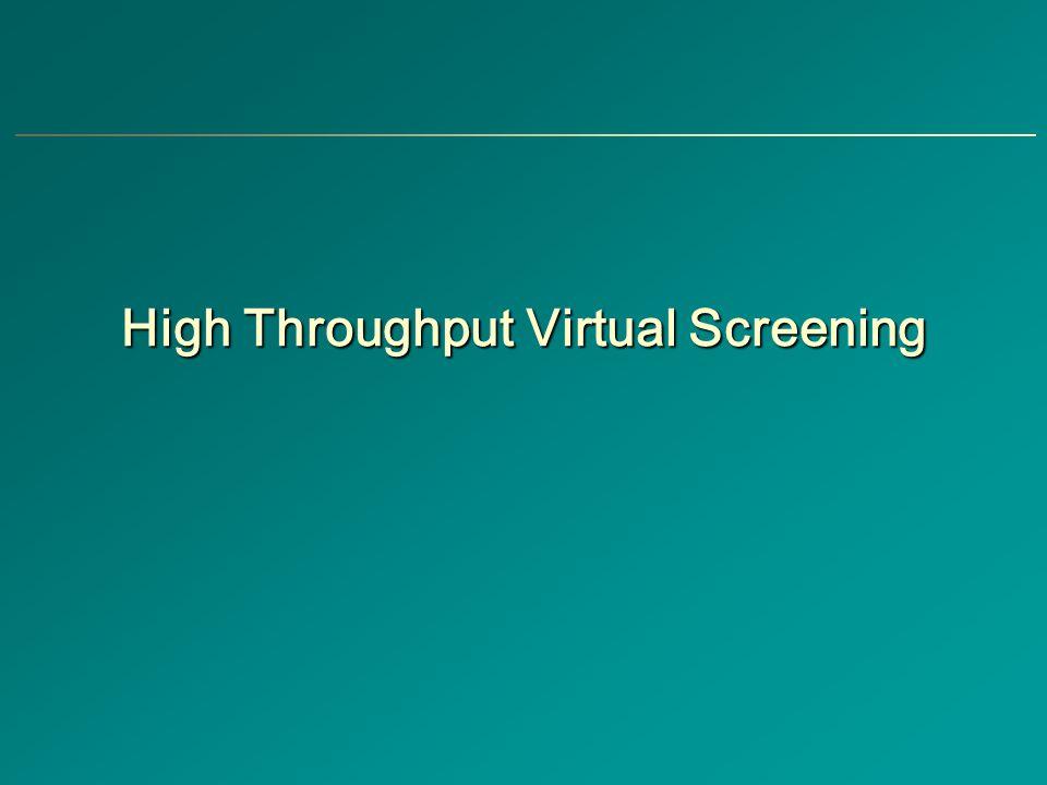 High Throughput Virtual Screening