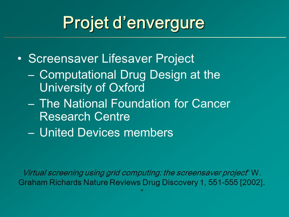 Projet d'envergure Screensaver Lifesaver Project