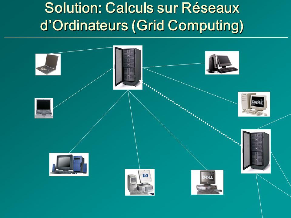 Solution: Calculs sur Réseaux d'Ordinateurs (Grid Computing)