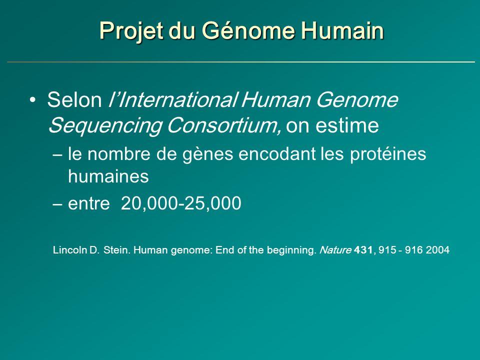 Projet du Génome Humain