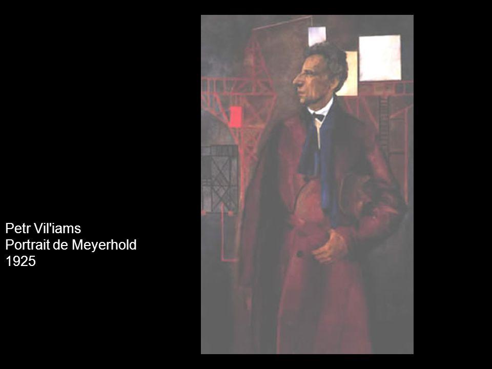 Petr Vil iams Portrait de Meyerhold 1925