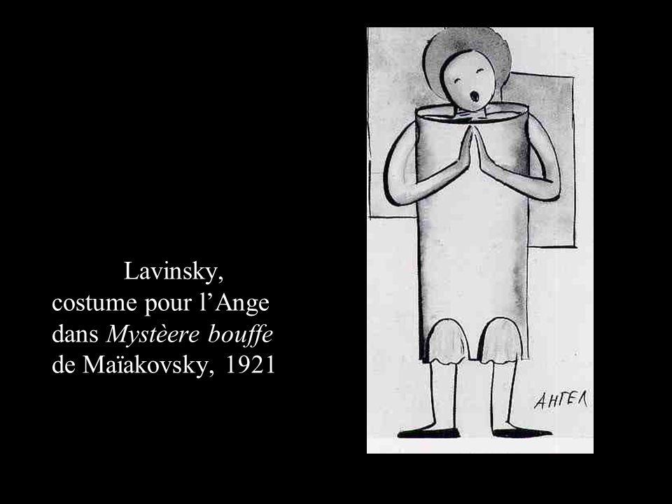Anton Lavinsky, costume pour l'Ange dans Mystèere bouffe de Maïakovsky, 1921