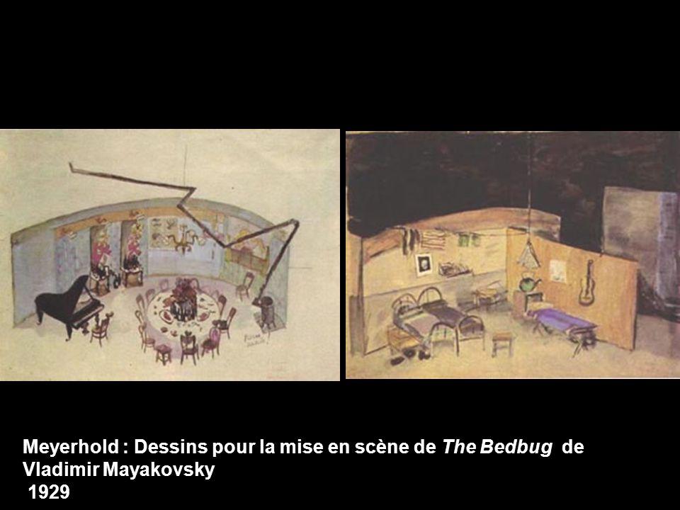 Meyerhold : Dessins pour la mise en scène de The Bedbug de