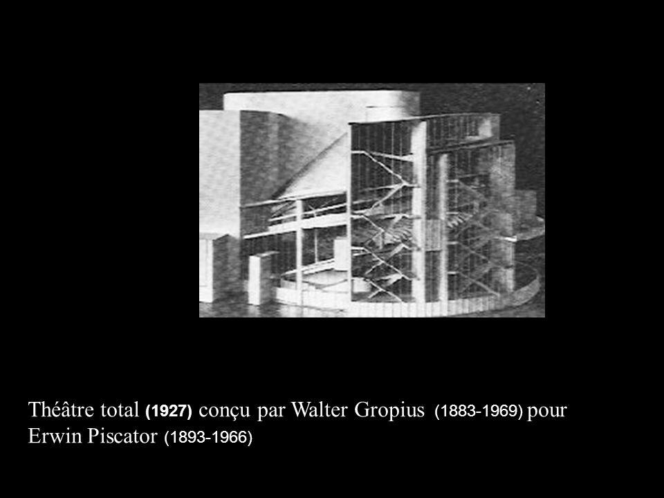 Théâtre total (1927) conçu par Walter Gropius (1883-1969))pour
