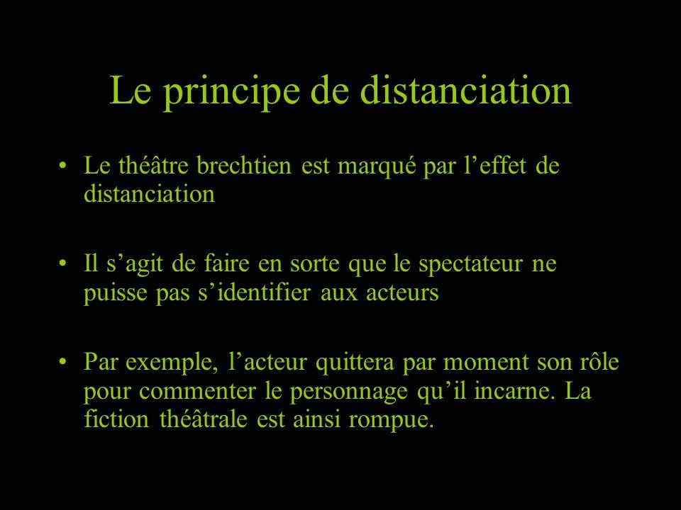 Le principe de distanciation