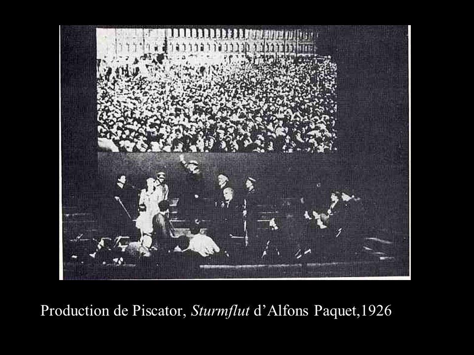 Production de Piscator, Sturmflut d'Alfons Paquet,1926
