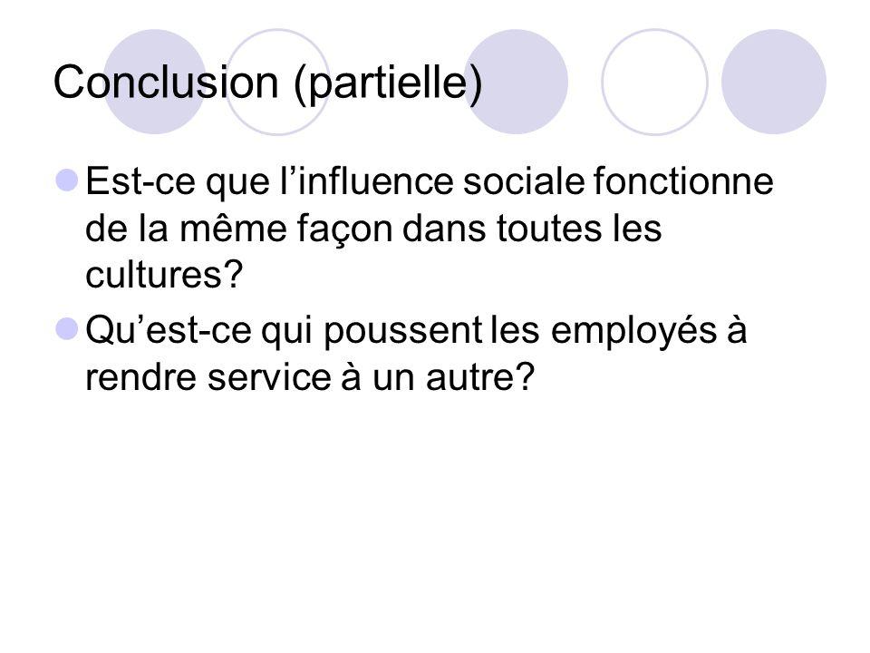 Conclusion (partielle)