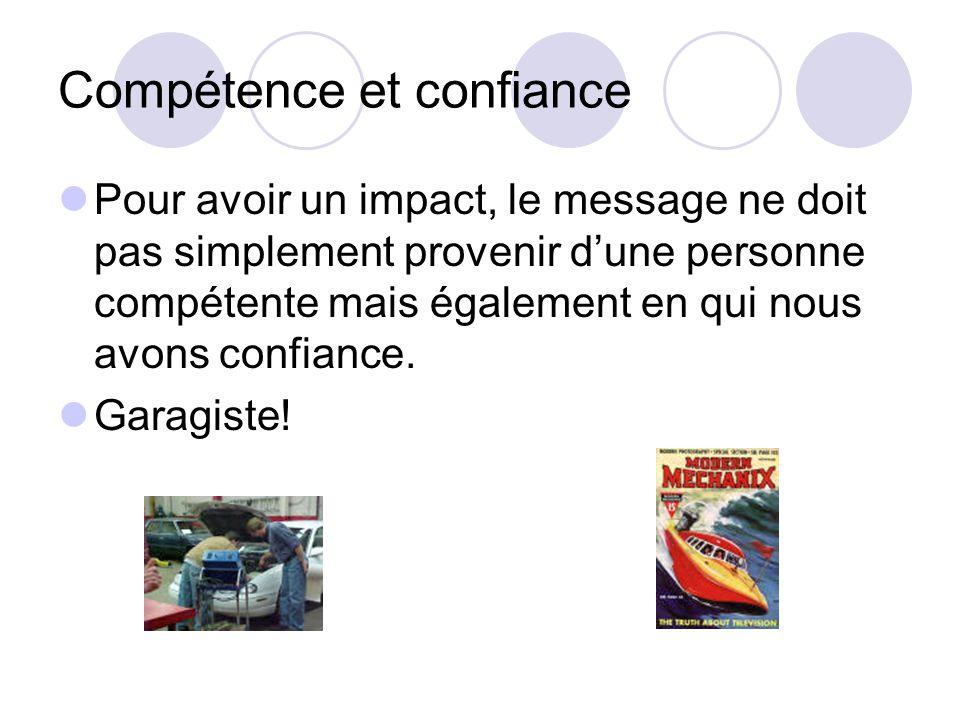 Compétence et confiance