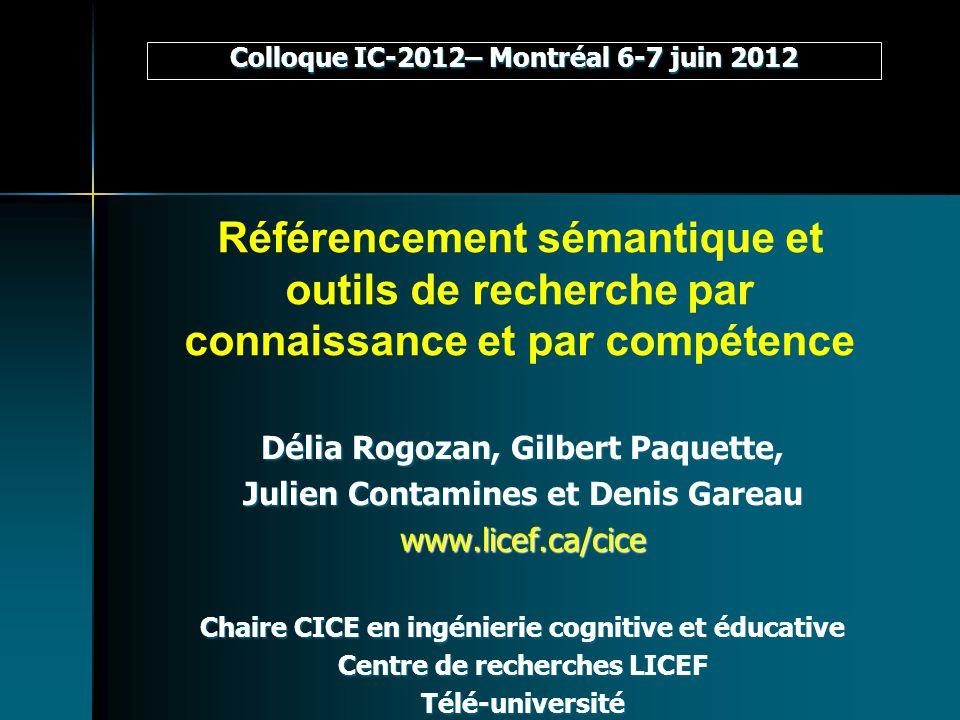 Colloque IC-2012– Montréal 6-7 juin 2012
