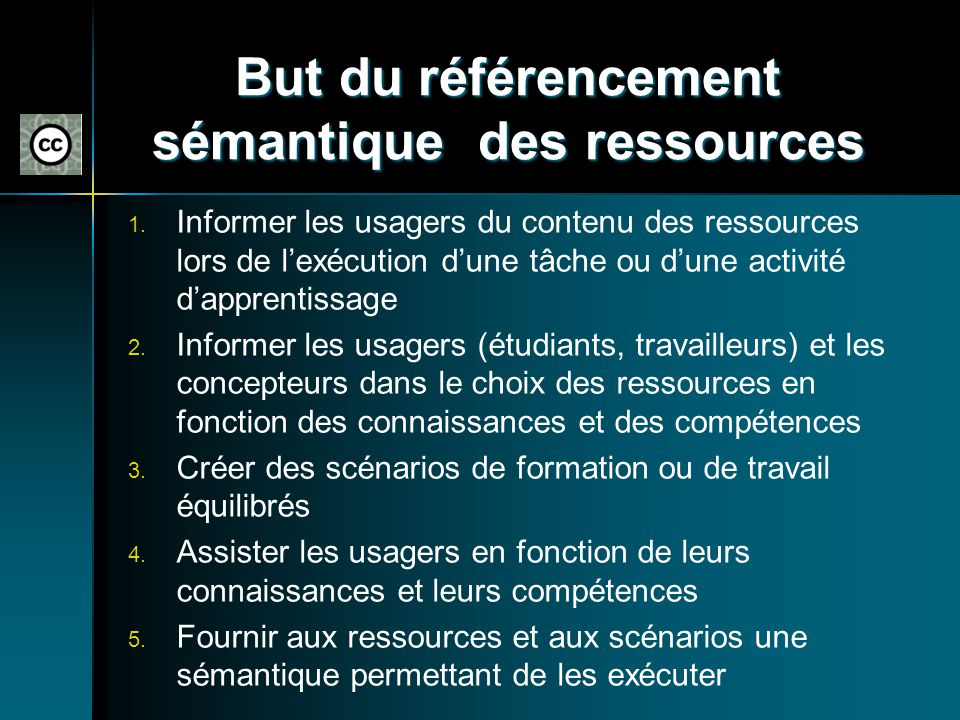 But du référencement sémantique des ressources