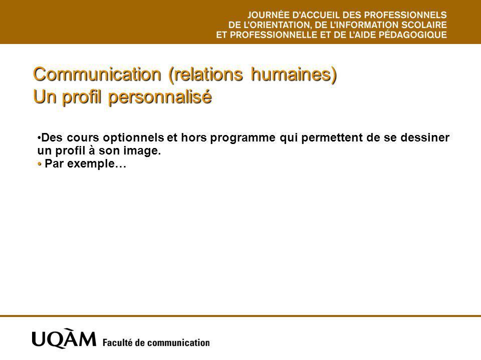 Communication (relations humaines) Un profil personnalisé