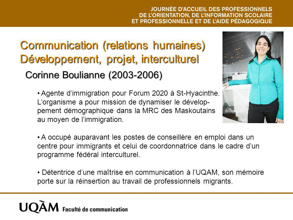 Communication (relations humaines) Développement, projet, interculturel