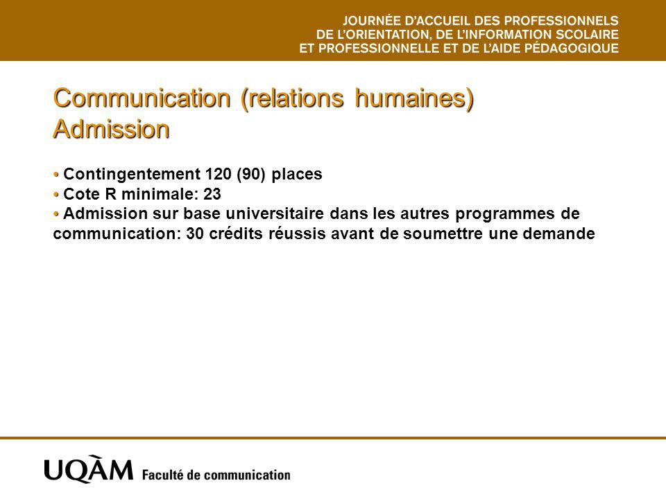 Communication (relations humaines) Admission