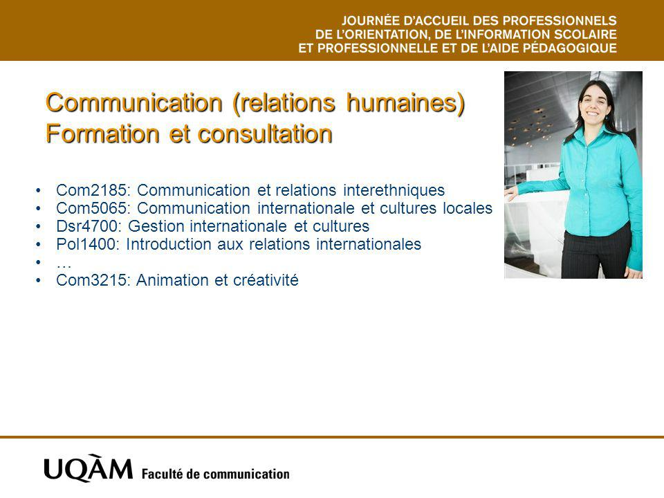 Communication (relations humaines) Formation et consultation