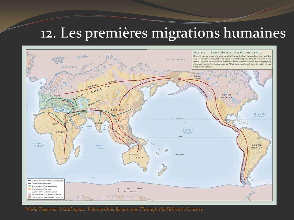 12. Les premières migrations humaines