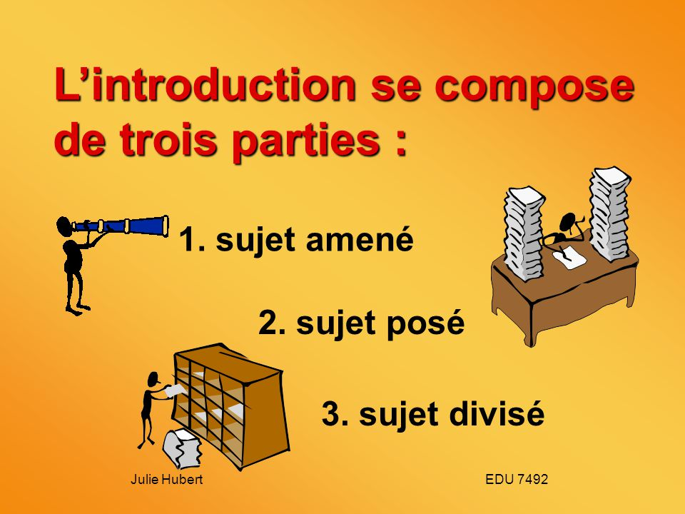 L'introduction se compose de trois parties :